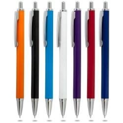 100 adet Promosyon Yarı Metal Plastik Tükenmez  kalem