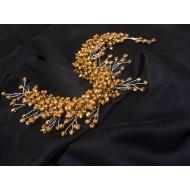 Gold Gelin Saç Aksesuarı (Diğer Ürünler) by www.tahtakaledeyiz.com