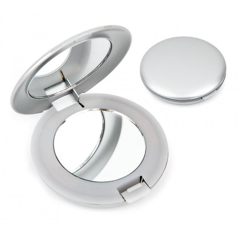 Metal Gümüş Renk Işıklı Ayna (Ayna) by www.tahtakaledeyiz.com