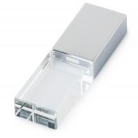 Kişiye Özel Gümüş Renkli Işıklı Metal Usb Bellek 16 GB