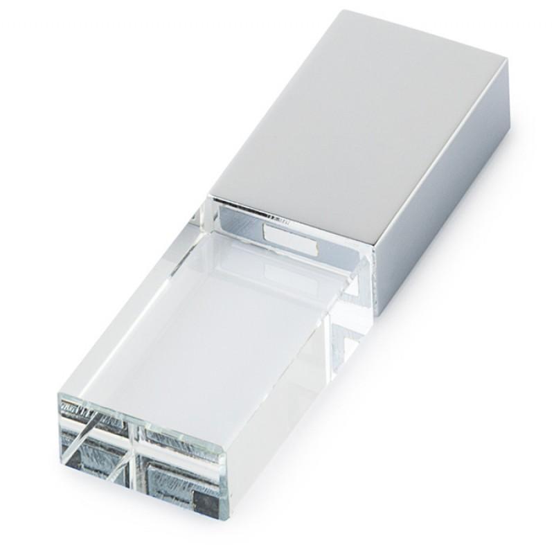 Kişiye Özel Gümüş Renkli Işıklı Metal Usb Bellek 16 GB (Promosyon Ürünleri) by www.tahtakaledeyiz.com