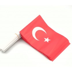 Kağıt Bayrak Çubuklu 50 Adet (  20 x 30 cm Ebat ) Türk Bayrağı