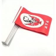 Kağıt Bayrak Çubuklu 50 Adet Atatürk Baskılı (  20 x 30 cm Ebat )