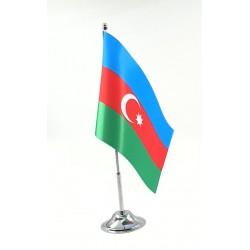 Masa Bayrağı Direkli Azerbaycan Bayrağı ( Tekli )