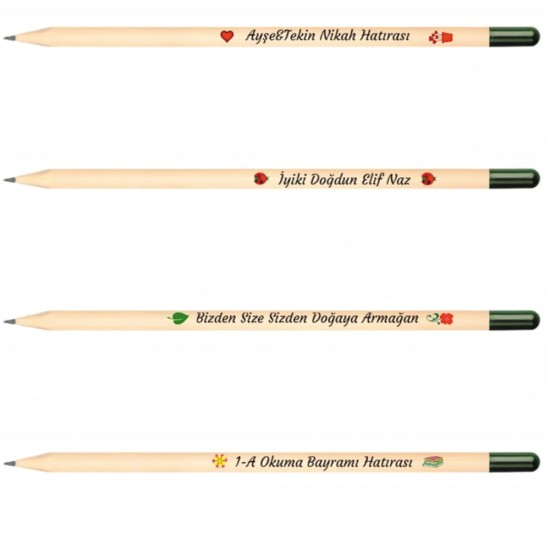 50 Adet Tohumlu Kurşun Kalem