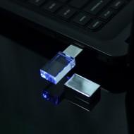 Kişiye Özel Gümüş Renkli Işıklı Metal Usb Bellek 32 GB (Kişiye Özel USB Bellekler) by www.tahtakaledeyiz.com