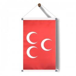 Askılı Kırmızı-Üçhilal Poster 30x50 cm