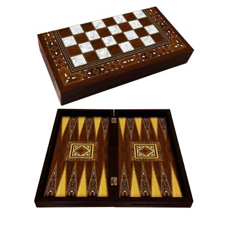Antik Mozaik Sedef Tavla Takımı (Tavla Takımları) by www.tahtakaledeyiz.com