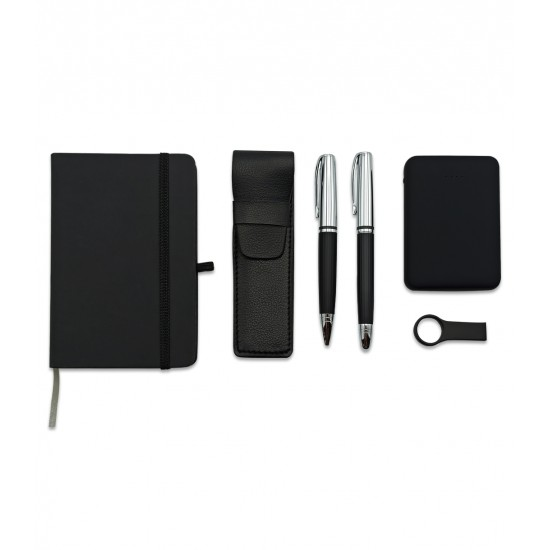 VIP SET POWERBANK – USB Bellek – İKİLİ KALEM SETİ – DEFTER