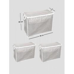 3 Adet - Sandık Tipi Hurç  80 X 60 X 40 Cm  (Yastık Yorgan Hurcu)