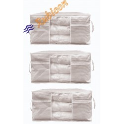 3 Adet - Pencereli Hurç  75 X 40 X 40 Cm  (Yastık Yorgan Hurcu)
